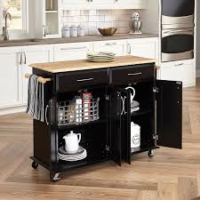 Kitchen Cabinet On Wheels Amazon Com Home Styles 4528 95 Dolly Madison Kitchen Cart Black
