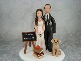 customized wedding cake topper doctor u0026 teacher with a dog