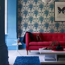 Blue And White Bedroom Wallpaper Living Room Colour Schemes