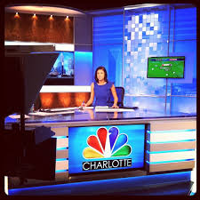 katie killen working hard on the nbcclt anchor desk this morning