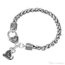 antique silver bracelet charms images Lovely antique silver plated black clear crystal sitting puppy dog jpg