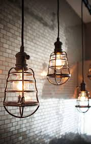 Industrial Looking Lighting Fixtures Home Decorators Collection 1 Light Aged Bronze Cage Pendant