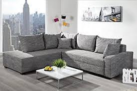 sofa federkern design ecksofa apartment strukturstoff grau federkern sofa