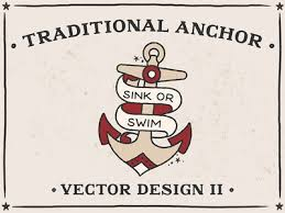 traditional anchor2 vector design bad taste by bad taste design