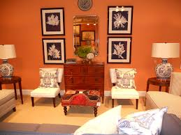 living room burnt orange and brown decor colors that go with