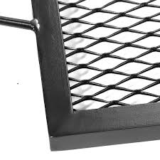 fire pit poker sunnydaze x marks rectangle fire pit cooking grill steel black