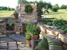 Patio Foundation Slate Patio And Outdoor Fireplace Made Of Foundation Stones From