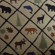 Wilderness Home Decor Pillowcases Wilderness Retreat Woodland Cabin Lodge Bear Deer