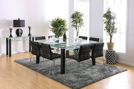 square glass table dining furniture of america 3363t square glass table set