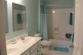 bathroom small ideas with shower only blue wallpaper living