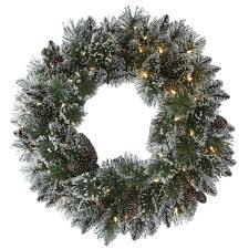 martha stewart living 24 in led pre lit glittery bristle pine