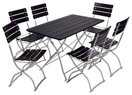 Outdoor Furniture Asheville by Beer Garden Bistro Set Table 6chairs Cs Black2 Jpg