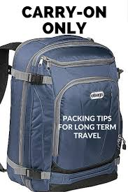 carry on only a packing list for long trips
