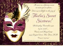 dramatic mask 16th birthday invitation magic teal