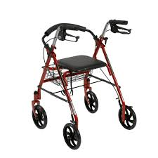 senior walkers with seat drive four wheel rollator rolling walker with fold up