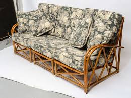 heywood wakefield cane 3 piece couch at 1stdibs