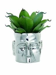 Vase Large Amazon Com Torre U0026 Tagus 900365 Face Vase Large Chrome Home