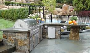 outdoor grill kitchen design inviting home patio ideas stone pool