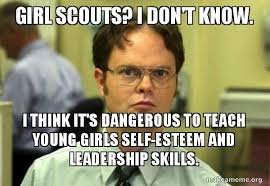 Young Girl Meme - girl scouts i don t know i think it s dangerous to teach young