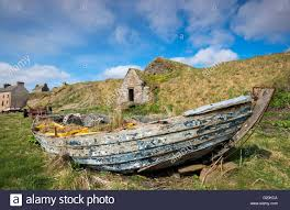 wooden boat wall wooden boat by the in the in keiss caithness