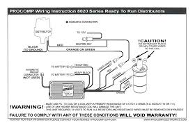 pro comp distributor wiring diagram wiring diagram and schematic
