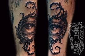 eye of thorns tattoos zodiac