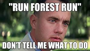Don T Tell Me What To Do Meme - run forest run don t tell me what to do offensive forrest gump