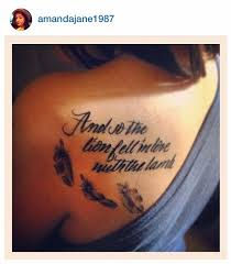 and so the fell in with the feather ink