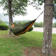 travel camping outdoor parachute nylon fabric hammock for double