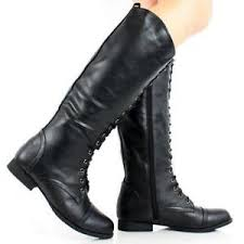 s fold combat boots size 12 lace up boots ebay