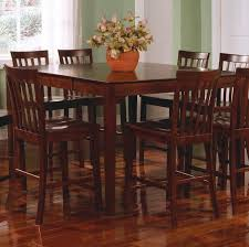 bar height dining table with leaf expandable counter height table developerpanda