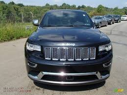 jeep summit black 2014 jeep grand cherokee summit 4x4 in brilliant black crystal