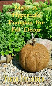 Diy Garden And Crafts - make an awesome hypertufa pumpkin for fall concrete gardens