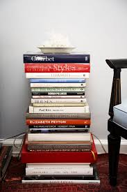 book stacking ideas decorating with stacks of books popsugar home