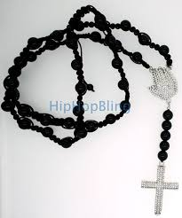 praying necklace disco rosary praying bling cross necklace 5 less
