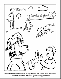 astonishing fire safety plan colouring pages with fire safety