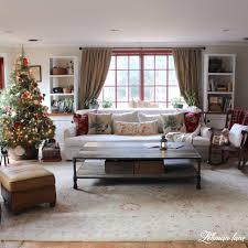 sofa tour home tour 2015 family room tree pottery barn pillows rh