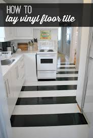 how to lay vinyl black and white flooring in stripes the