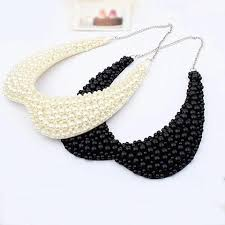 choker necklace with beads images Black white pearls beaded choker necklaces miraj international llc jpg