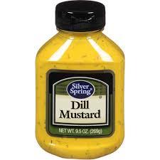dill mustard silver dill mustard 9 5 oz pack of 9 walmart