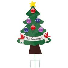 personalized metal christmas tree lawn stake lawn stakes miles