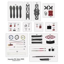 impulserc alien rr5 fpv frame kit rotor riot store