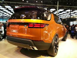 land rover orange land rover discovery vision concept beijing live