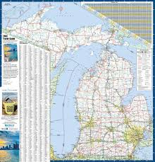 us states detailed map large detailed map of michigan with cities and towns