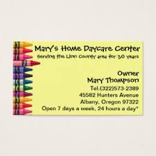 childcare business cards babysitting business cards templates zazzle