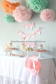 tissue paper pom poms decoration ideas backdrop baby shower
