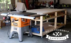 Building Woodworking Bench Diy Workbench