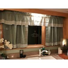 Country Style Kitchen Curtains by Sage Country Style Kitchen Curtains With White Daisy Lace Accent
