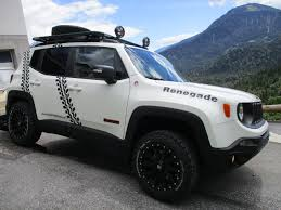 gray jeep renegade jeep renegade with daystar lift and cooper stt pro tires jeep