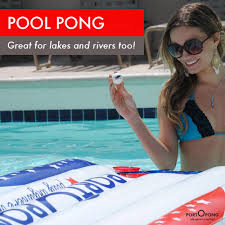 Pool Beer Pong Table by Portopong 6ft Inflatable Beer Pong Table Float All American